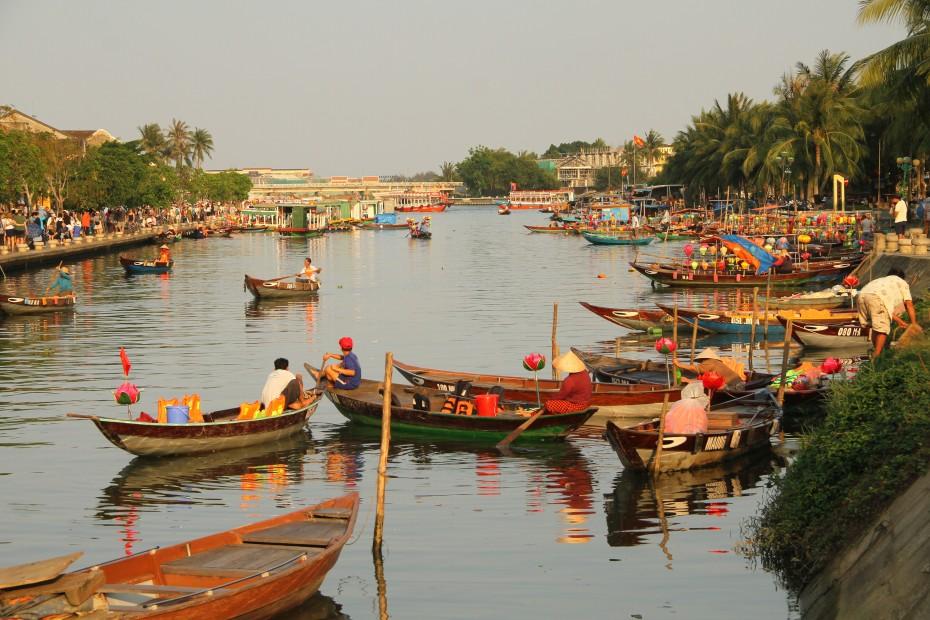 Hoi An pohled z mostu